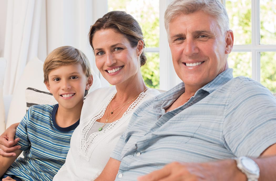 Dr. Keith Silverman provides dentistry for all ages. Grandfather, mother and son.