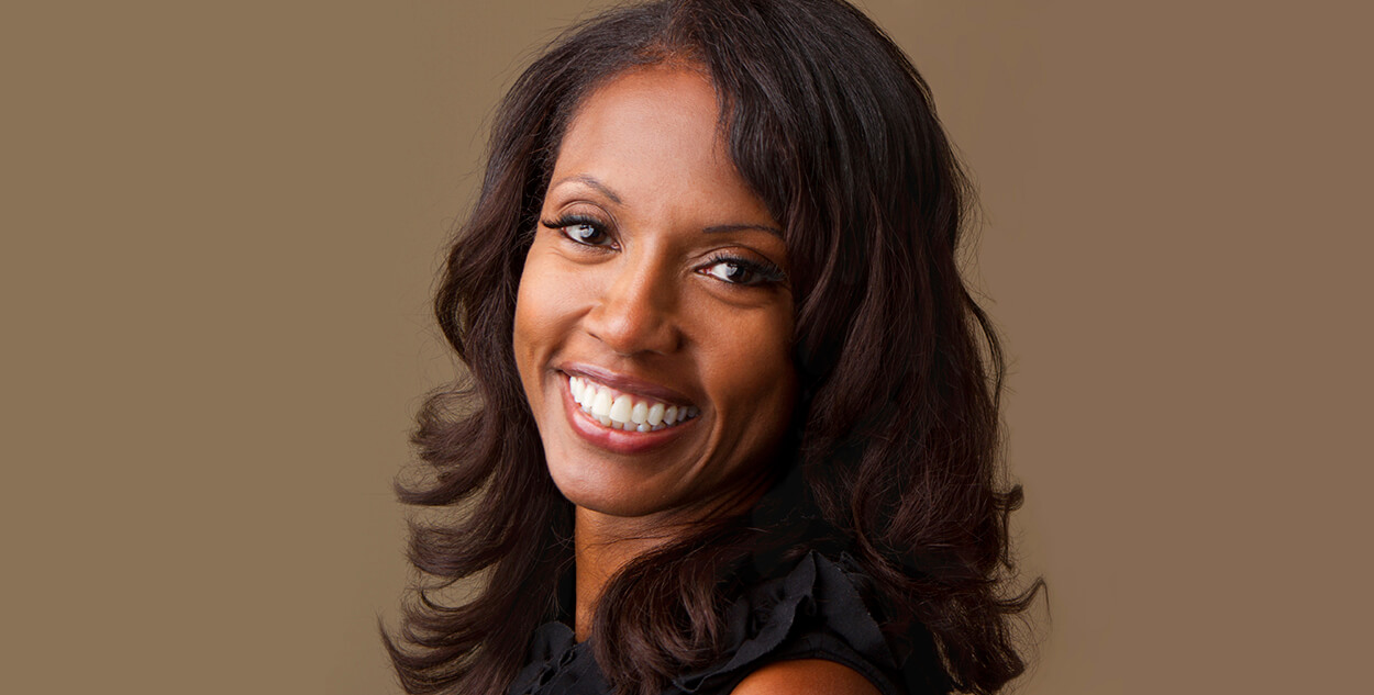 African-american professional woman with a beautiful smile
